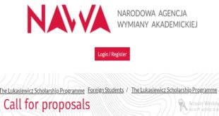 Ignacy Łukasiewicz Scholarship Programme for Master studies in Poland, 2020-21