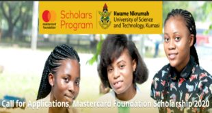 KNUST Mastercard Foundation Scholarship 2020 (Fully-Funded for Africans)