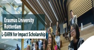 L-EARN Impact Scholarship Program 2020 for Students of Developing Countries at Erasmus University, Netherlands