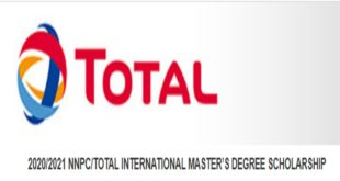 NNPC/Total International Master's Degree Scholarship 2020/2021 (Fully-Funded to France)