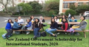 New Zealand Government Scholarship for International Students, 2020