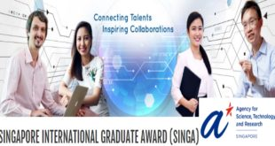 Singapore Graduate Award Scholarships for International Students, 2020-2021