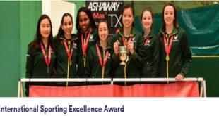 University of Nottingham International Sporting Excellence Awards, 2020