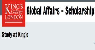 2020 School of Global Affairs International Masters Award at King's College, UK
