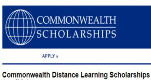Commonwealth Distance Learning Scholarships 2020 for Students of Developing Countries