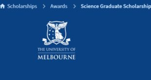 University of Melbourne International Science Graduate Scholarships 2021/22