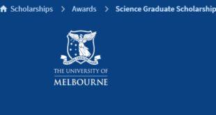 International Science Graduate Scholarships at University of Melbourne, Australia