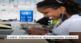 UNDP UN Volunteer Operations Associate Internship 2020