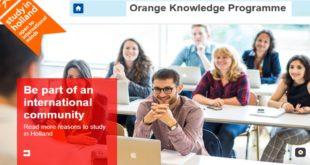 Holland Fellowships and Scholarships - Orange Knowledge Programme 2020