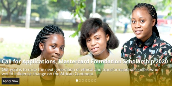 KNUST Mastercard Foundation Scholarship 2020-2021 for Africans