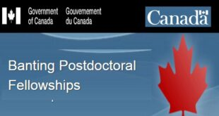 Government of Canada Banting Postdoctoral Fellowships 2021/2022