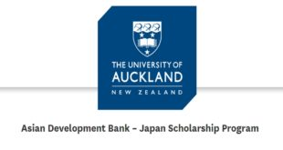 Japanese Government – Asian Development Bank Scholarship Program