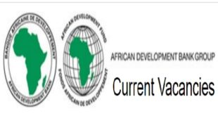 African Development Bank Group Job Opportunities – October 2020 (15 Positions)