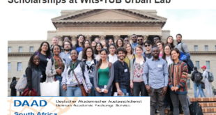 Scholarships at Wits-TUB Urban Lab in Architecture and Planning for Africans