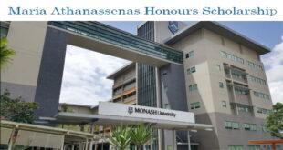 Maria Athanassenas Honours Scholarship at Monash University 2020