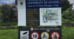 University of Otago International Excellence 2020