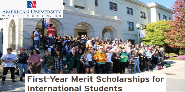 Merit Scholarships for International Students at American University
