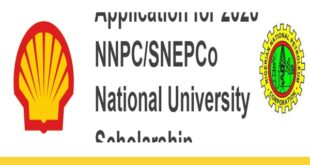 NNPC/SNEPCo National University Scholarship 2020 – Apply