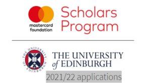 Edinburgh MasterCard Foundation Scholars Program 2021/2022 for Africans