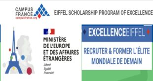 Eiffel Excellence Masters and PhD Scholarships for Foreign Students 2021 (Funded by French Government)