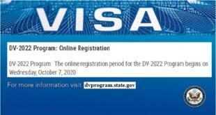 Entry for US Diversity Visa Program 2022 (DV-2022)