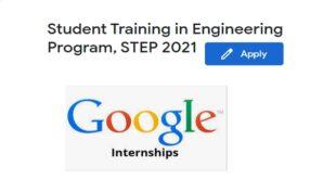 Google STEP Internship 2021 (Student Training in Engineering Program)