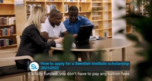 Study in Sweden: Swedish Institute Scholarships for Masters Studies 2021/22