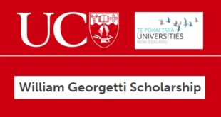 William Georgetti Scholarship 2020/2021 for Postgraduate Studies in New Zealand