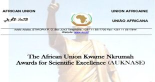 African Union Kwame Nkrumah Awards for Scientific Excellence 2020 for African Researcers