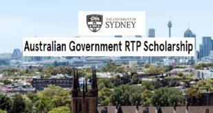 Australian Government RTP Scholarship (International) for Postgraduates, 2021