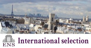 ENS International selection Scholarships 2021/2022 for Sciences, Art and Humanities