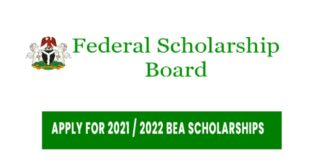 federal government scholarship 2021 | Federal Government of Nigeria BEA Scholarship Award 2021 / 2022