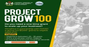 Federal Government of Nigeria Project Grow 100 | Apply at www.youthandsport.gov.ng