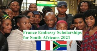 France Embassy Scholarships for South Africans 2021