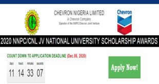 NNPC / Chevron Nigeria Limited JV Scholarship Awards 2020 for Undergraduates