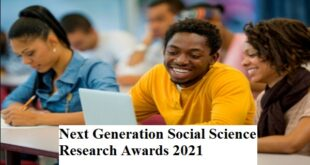 Next Generation Social Science Research Awards 2021