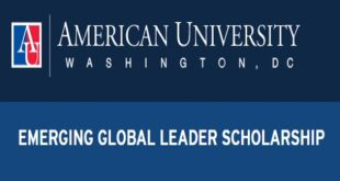 The AU Emerging Global Leader Scholarship 2021 (for International Students)