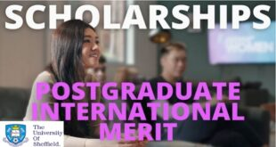University of Sheffield International Merit Postgraduate Scholarship