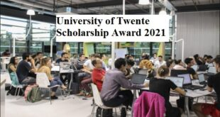 University of Twente Scholarship Award 2021