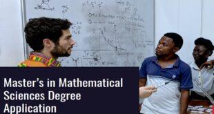AIMS-Next Einstein Initiative Masters Scholarship 2021