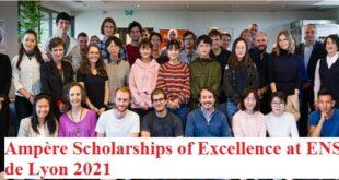 Ampère Scholarships of Excellence at ENS de Lyon 2021