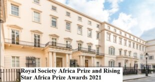 Royal Society Africa Prize and Rising Star Africa Prize Awards 2021