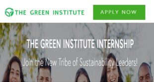 The Green Institute Internship 2021 for Students and Fresh Graduates (Worldwide)