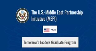 US-MEPI Tomorrow's Leaders Graduate Program 2021 for Middle East and North Africans