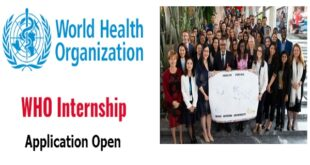 WHO Internship 2021 Now Open | Paid Opportunities (how to Apply)