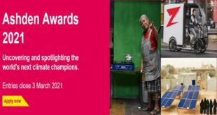 Ashden Awards 2021 for Outstanding Climate Solutions