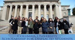 Columbia University Scholarship for Displaced Persons