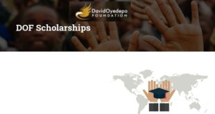 David Oyedepo Foundation Scholarships for Africans