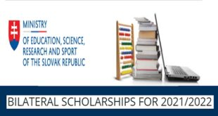 Government of Slovak Republic Bilateral Scholarships 2021/2022 for Foreign Citizens