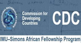 IMU-Simons African Fellowship Program in Mathematical Research
